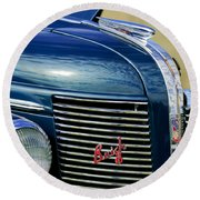 1937 Buick Hood Ornament Round Beach Towel