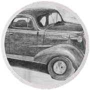 1937 Chevy Round Beach Towel
