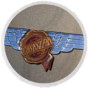 1937 Chrysler Airflow Emblem Round Beach Towel