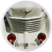 1937 Cord 812 Sc Phaeton Grille Round Beach Towel