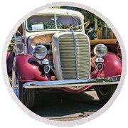 1937 Ford Round Beach Towel