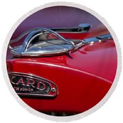 1937 Packard 115-c Cabriolet Hood Ornament  Round Beach Towel
