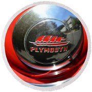 1937 Plymouth Hubcap Round Beach Towel