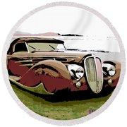 1938 Delahaye Cabriolet Round Beach Towel