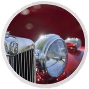 1938 Mg Ta Hood Ornament Round Beach Towel