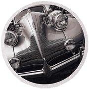 1939 Buick Eight Round Beach Towel