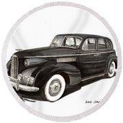 1939 Lasalle Sedan Classic Round Beach Towel