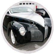 1939 Lincoln Zephyr  7680 Round Beach Towel
