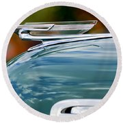 1940 Chevrolet Hood Ornament 2 Round Beach Towel