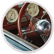 1940 Chevrolet Steering Wheel Round Beach Towel
