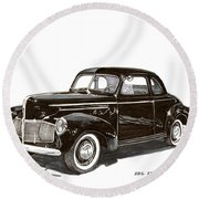 Studebaker Business Coupe Round Beach Towel