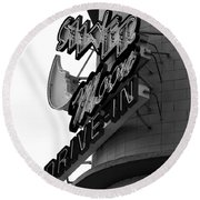 1940s Drive In Round Beach Towel