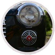 1941 Cadillac Headlight Round Beach Towel