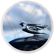 1941 Cadillac Hood Ornament - The Goddess Round Beach Towel