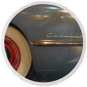 1942 Cadillac - Series 62 Sedanette Fastback Round Beach Towel