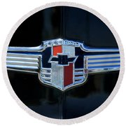 1942 Chevrolet Emblem Round Beach Towel