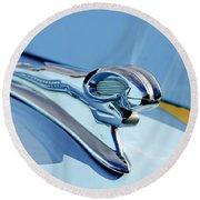 1946 Dodge Ram Hood Ornament Round Beach Towel