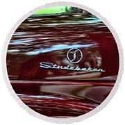 1947 Studebaker Name Plate Round Beach Towel