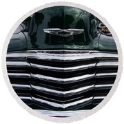 1948 Chevy Coupe Grille Round Beach Towel
