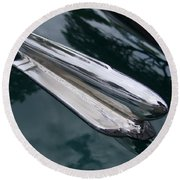 1948 Chevy Coupe Hood Ornament Round Beach Towel