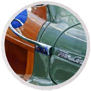 1948 Chrysler Town And Country Convertible Coupe Round Beach Towel