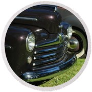 1948 Ford Super Deluxe Round Beach Towel
