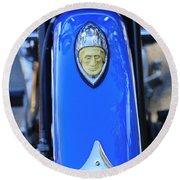 1948 Indian Chief Motorcycle Fender Round Beach Towel