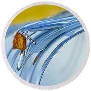 1948 Pontiac Hood Ornament 2 Round Beach Towel