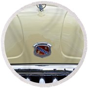 1949 Buick Super 8 Grill  Round Beach Towel