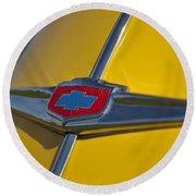 1949 Chevrolet Sedan Hood Emblem Round Beach Towel