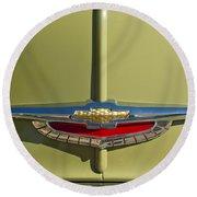 1950 Chevrolet Fleetline Emblem Round Beach Towel