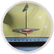 1950 Chevrolet Fleetline Grille 2 Round Beach Towel
