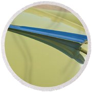 1950 Chevrolet Fleetline Hood Ornament 2 Round Beach Towel