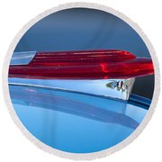 1950 Chevrolet Hood Ornament 5 Round Beach Towel