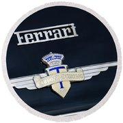 1950 Ferrari Carrozz Touring Milano Emblem Round Beach Towel
