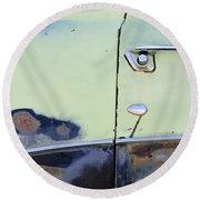 1950 Ford Crestliner Door Handle Round Beach Towel