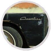 1950 Ford Crestliner Wheel Emblem Round Beach Towel