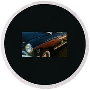 1950 Ford Round Beach Towel