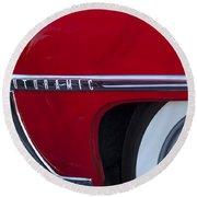1950 Oldsmobile Rocket 88 Wheel Round Beach Towel