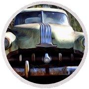 1950 Pontiac  Round Beach Towel