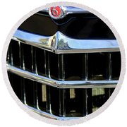 1950 Willys Jeepster Grille Emblem Round Beach Towel