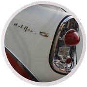 1950s Chevrolet Belair Chevy Antique Vintage Car 2 Round Beach Towel