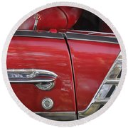 1950s Chevrolet Belair Chevy Antique Vintage Car 3 Round Beach Towel