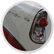 1950s Chevrolet Belair Chevy Antique Vintage Car Round Beach Towel