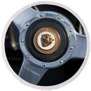 1951 Jaguar Steering Wheel Emblem Round Beach Towel