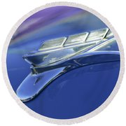 1951 Plymouth Hood Ornament Round Beach Towel