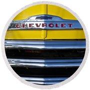 1952 Chevrolet Grille Emblem Round Beach Towel