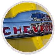 1952 Chevrolet Hood Emblem Round Beach Towel