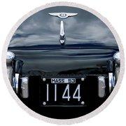 1953 Bentley Rear View License Plate Round Beach Towel