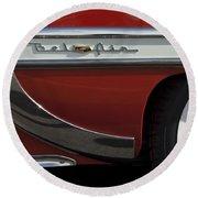 1953 Chevrolet Belair Emblem Round Beach Towel